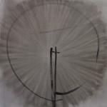 72 dpi Maarten Dekker compositie in grijs en zwart (vierkant) 140x140 2013, olieverf op linnen
